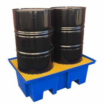 Forkliftable poly bunded pallets