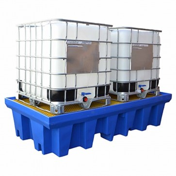 Double IBC Spill Containment Unit