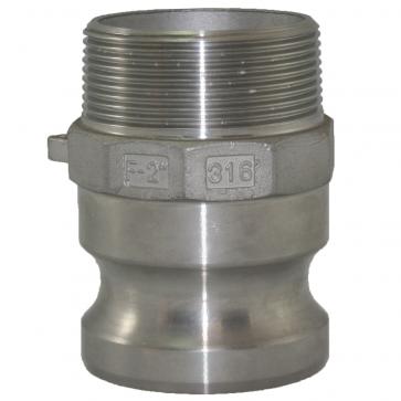 "2"" 316 Stainless Steel Camlock Adaptor x MNPT"