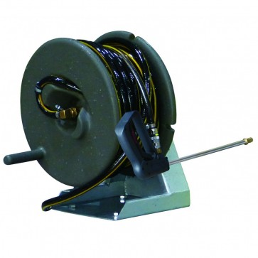 30M Hose And Base Mount Poly Reel With Gun
