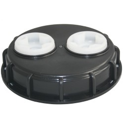 150mm Solid Poly Lid With 2 Ports