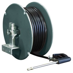50M Hose And Side Mount Poly Reel With Gun