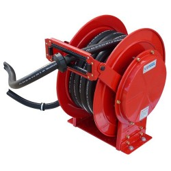 10M x 25mm Spring Loaded Auto Rewind Diesel Hose And Reel